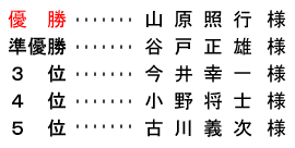 平成28年6月12日(日) 久寿杯 金組