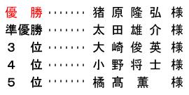 平成 28年7月3日(日) 七夕杯