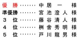 平成 28年7月10日(日) 久寿杯 金組