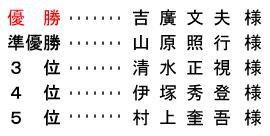 平成 28年8月5日(金) 七寿杯 (ハーフ集計)