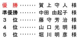 平成 28年8月21日(日) 月例杯 B組