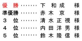 平成 28年8月31日(水) シニア・レディース杯