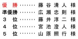 平成 28年9月11日(日) 開場記念杯 年齢別 A組