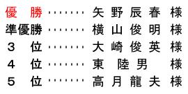 平成 28年9月11日(日) 開場記念杯 年齢別 B組