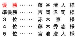 平成 28年9月14日(水) 久寿杯 金組