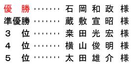 平成 28年9月18日(日) 月例杯 B組