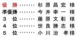 平成 28年9月24日(土) 土曜杯 進吾㈱杯