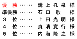 平成 28年10月9日(日)<br />  平成28年度 クラブ選手権 決勝(27HS)