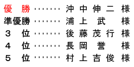 平成 28年10月10日(月) 体育の日杯【オープンコンペ】