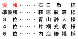 平成 28年11月3日(木) 文化の日杯