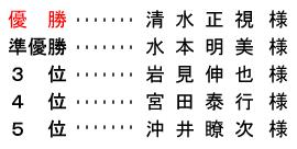 平成 28年11月30日(水) シニア・レディース杯(ハーフ集計)