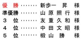 平成 29年1月2日(月) 初夢杯 年齢別 A組