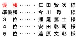 平成 29年1月2日(月) 初夢杯 年齢別 B組