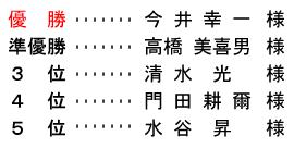 平成 29年1月3日(火) 初夢杯 年齢別 A組