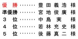 平成 29年1月3日(火) 初夢杯 年齢別 B組