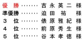 平成 29年2月19日(日) 月例杯A組