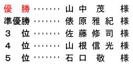平成 29年3月5日(日) 春分杯