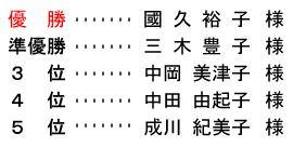 平成 29年3月9日(木) - レディース杯