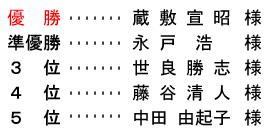 平成29年6月25日(日) 月例杯 B組